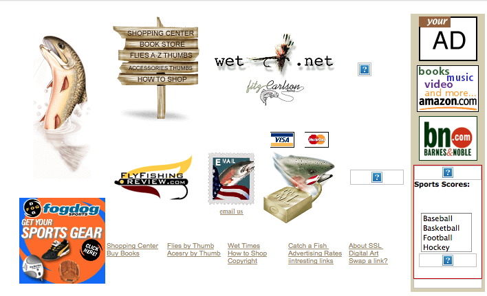 Original Wetfly Website, Crawled on October 1999