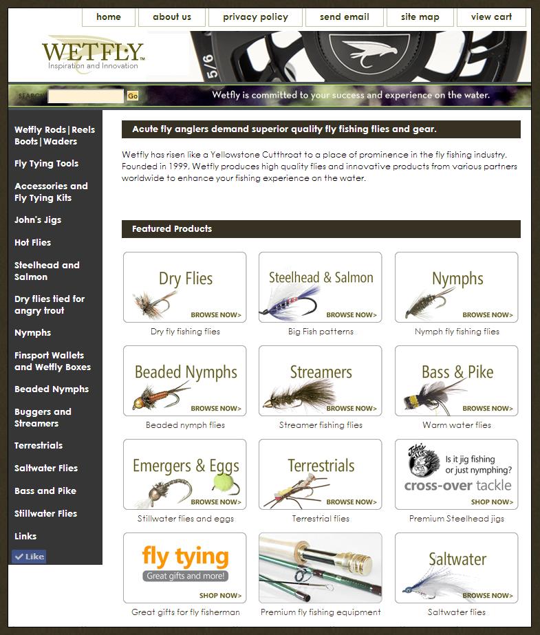Wetfly Website, 2012-2014