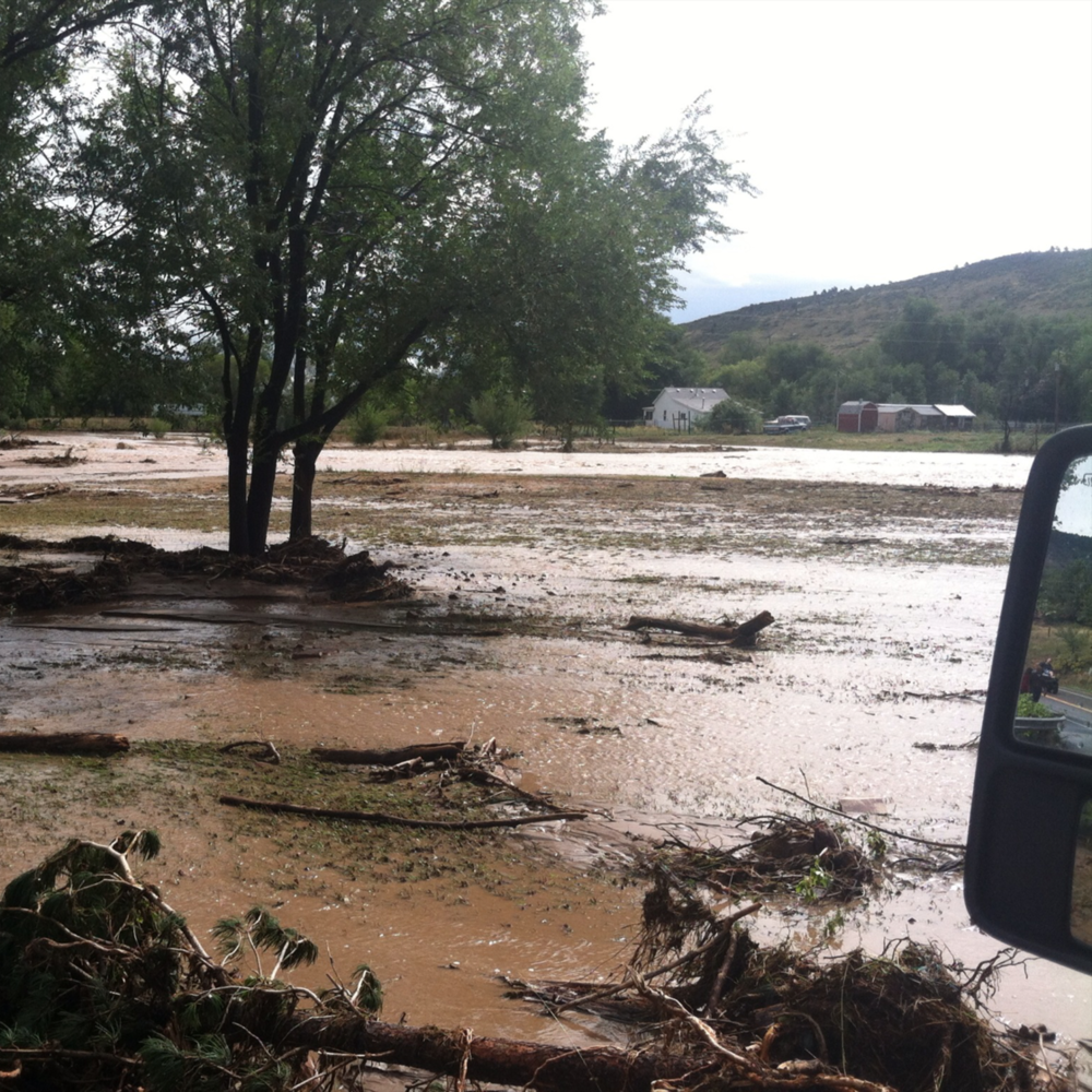 2013, Big Thompson River flood - North Saint Vrain River corridor flooded, 36 hours after rains began.