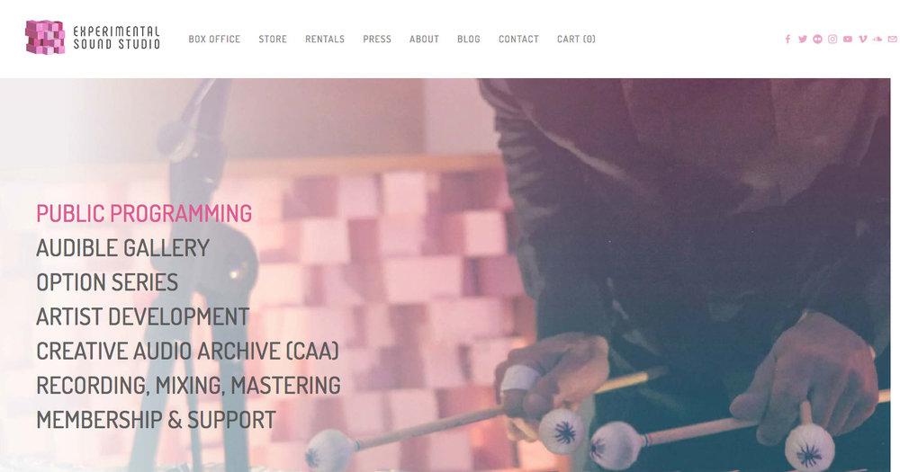 Client: Experimental Sound Studio Platform: Squarespace