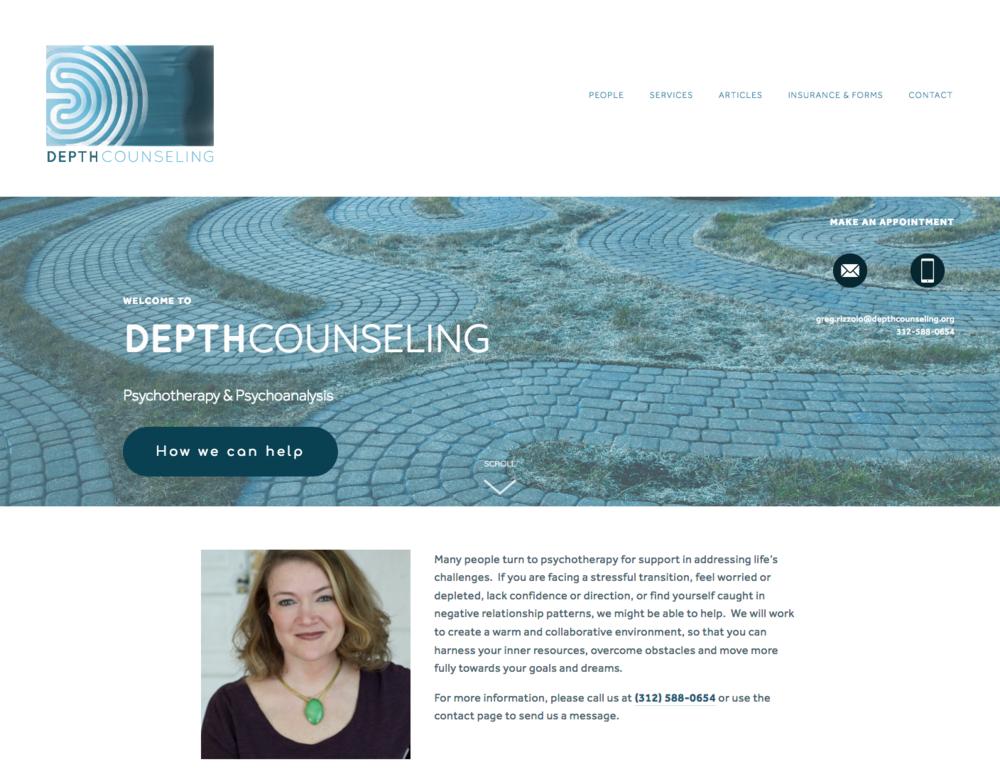 Client: Depth Counseling Platform: Squarespace