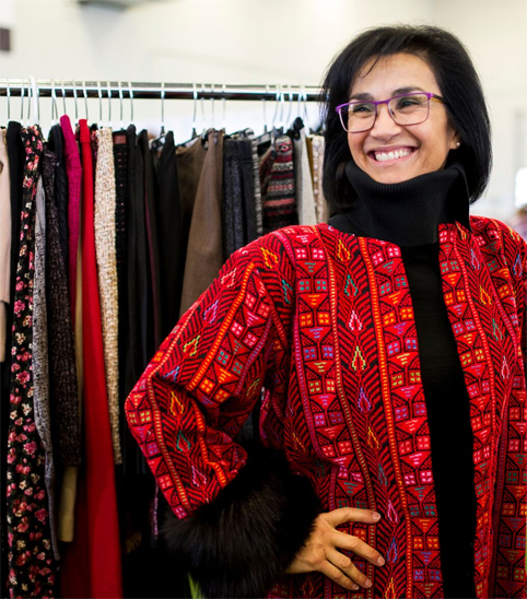 woman-in-red-shawl-Toronto-Vintage-Clothing-Show.jpg