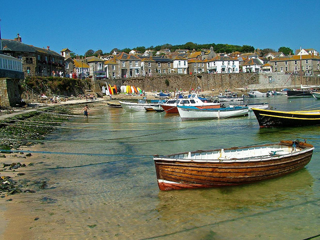 Mousehole harbor, Cornwall. Photo by Jomega via Flickr.com