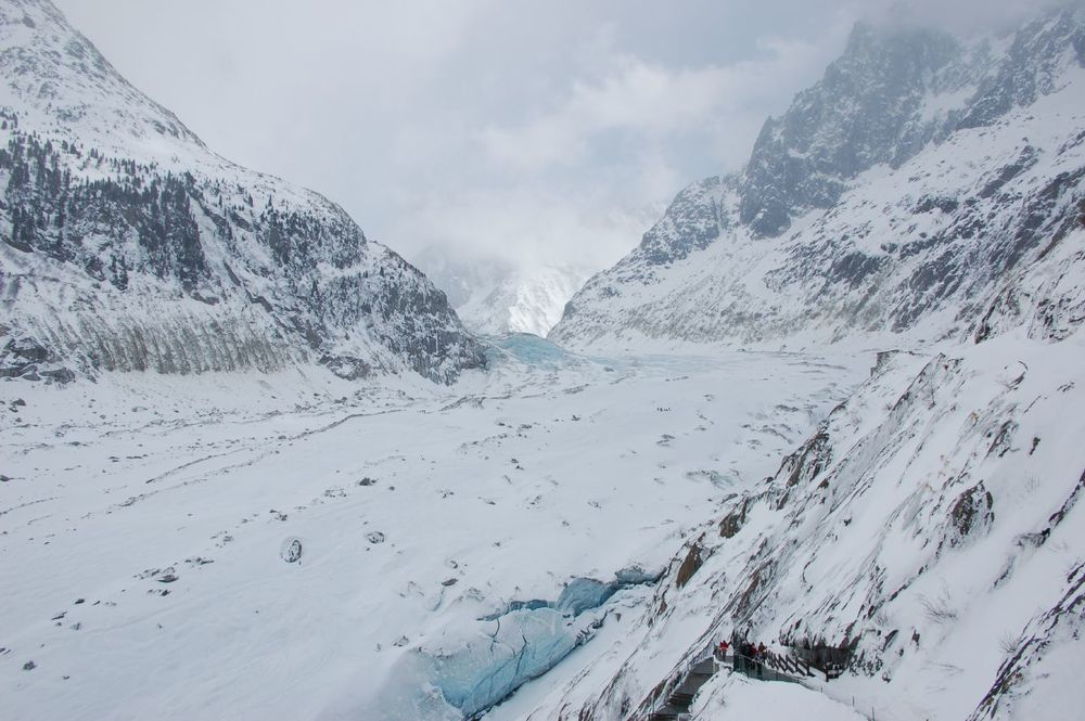 Mer de Glace, Chamonix, France by Jeff via Flickr CCL.