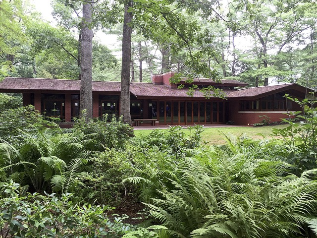 The Zimmerman house was designed by Frank Lloyd Wright in the 1950's and is a draw for architecture enthusiasts from all over the world, Manchester, New Hampshire.