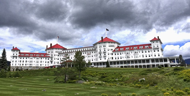 The stately, turn-of-the-century Mt. Washington hotel is one of the last grand resorts in the region, Bretton Woods, New Hampshire