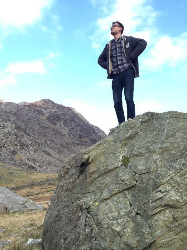 Joe Shaw in Snowdonia National Park.