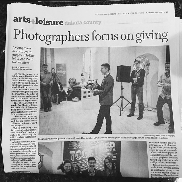 Make sure you pick up a copy of the Dakota County issue of the @startribune! Our story was featured and we are so thankful for the opportunity to give back. Get involved in 2015! #OneMonthtoGive2015 #PickUpACopy #Online #LinkInBio