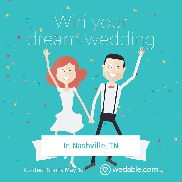 Our friends over at @wedable_ are giving away a FREE wedding. Help spread the word and sign up starting TOMORROW! #FreeWedding #GiveAway