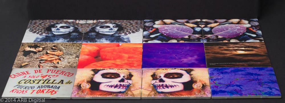 This Dia de Los Muertos tile montage showcases tile's adaptability