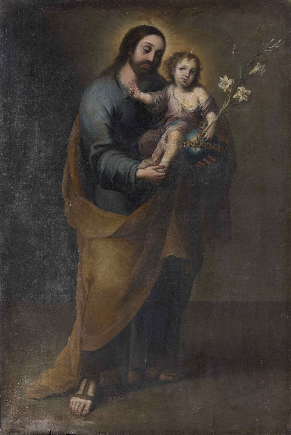 St. Joseph and the Infant Christ , School of Bartolomeo Esteban Murillo.