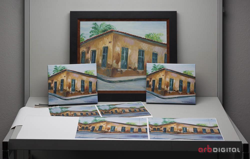 The original painting and giclée prints of The Mendez House, by Beatriz de Borregales.