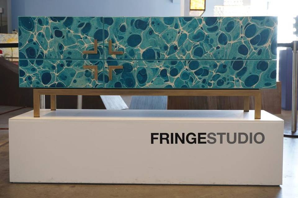 As featured in the Sacramento Bee: Fringe Studio's award-winning Watermark cabinet, surface printed by ARB Digital. Photo credit: Fringe Studio.