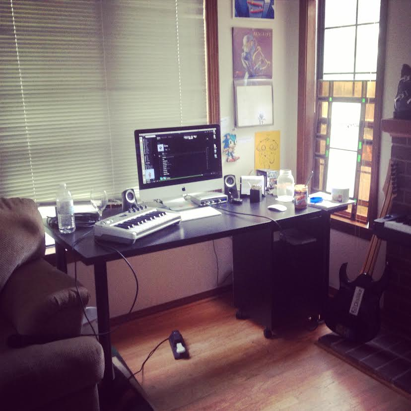 The home studio in Seattle