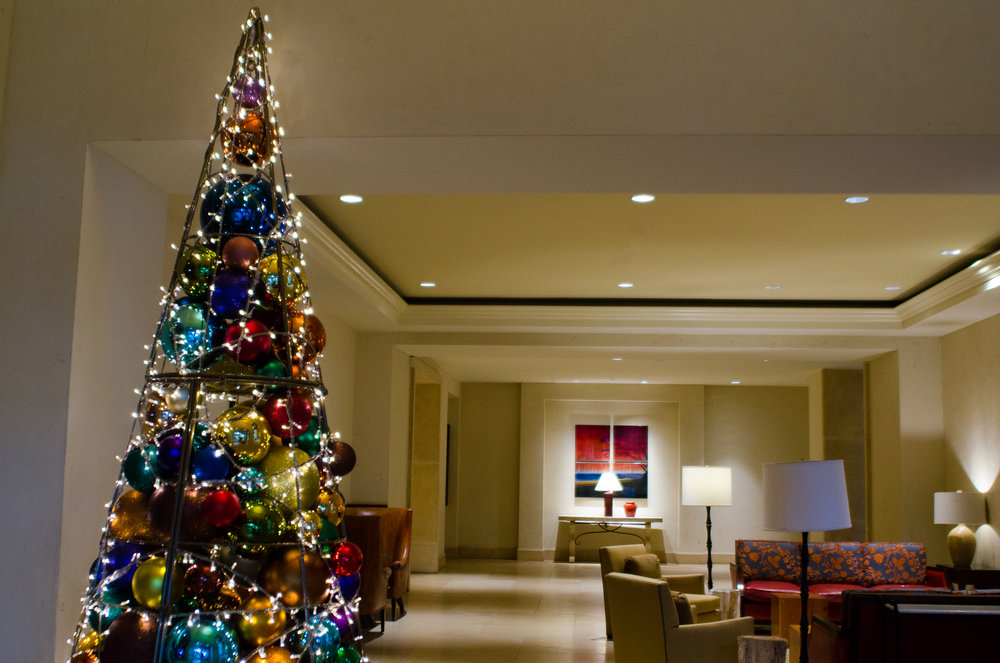 Christmas tree at the JW Marriott Resort, San Antonio