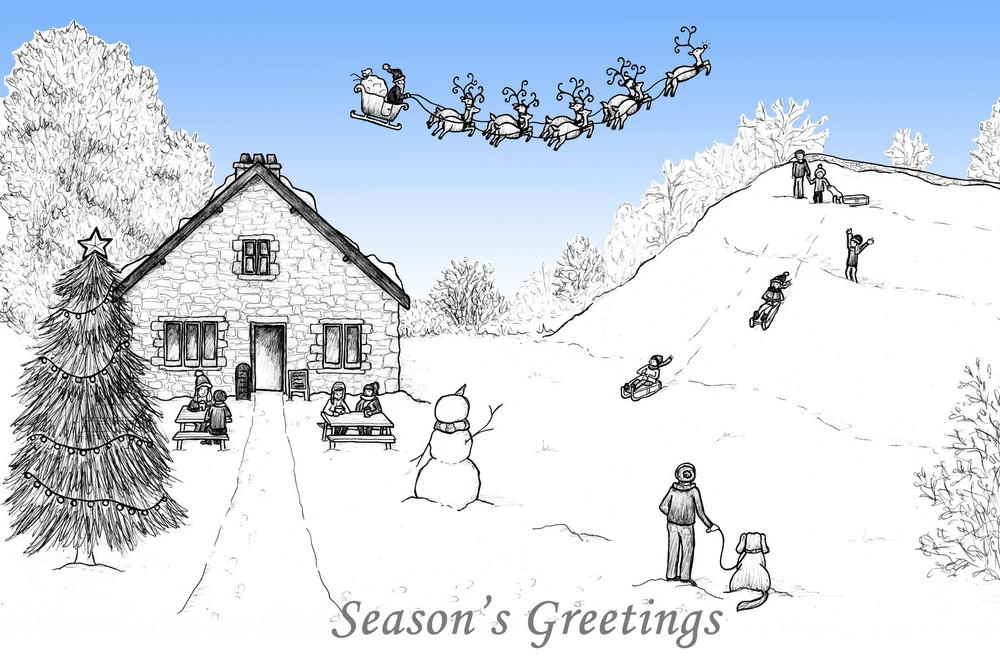 Abbey Mill Christmas Card