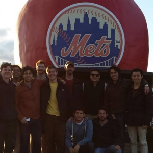 SigEps at a brotherhood baseball trip to Citi Field for a Mets Game.
