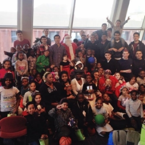 Zeta Psi hosted over 60 kids from the BronxWorks Organization for their annual Christmas party.