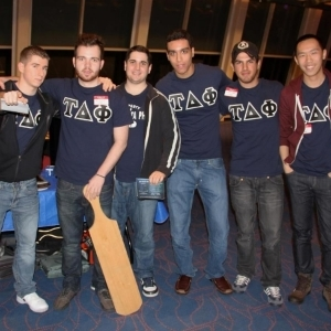 Brothers of Tau Delta Phi at Meet the Greeks.