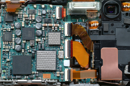 Ever wonder what's inside of a digital camera?  The answer could be profits, if you recycle enough of them and the precious metals they contain. Credit: John de la Bastide, via Thinkstock/Getty Images
