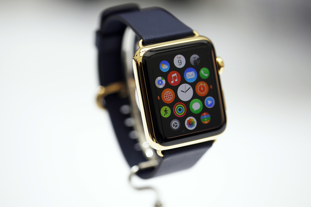 Shown: Apple Watch, Gold Edition, which has some people concerned about the world's gold supply, and could increase demand for recycled gold.