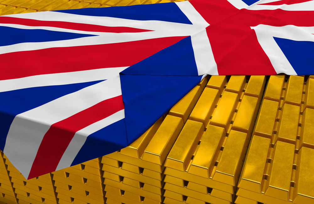 Photo of Gold bullion bars from the UK for Gold Refiners blog post on bullion country of origin. Credit: Sakramir/iStock.