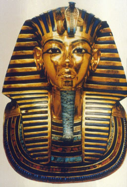Shown: the golden funerary mask of King Tut, which would never recycle and refine! We turn scrap, not treasure, into profits.