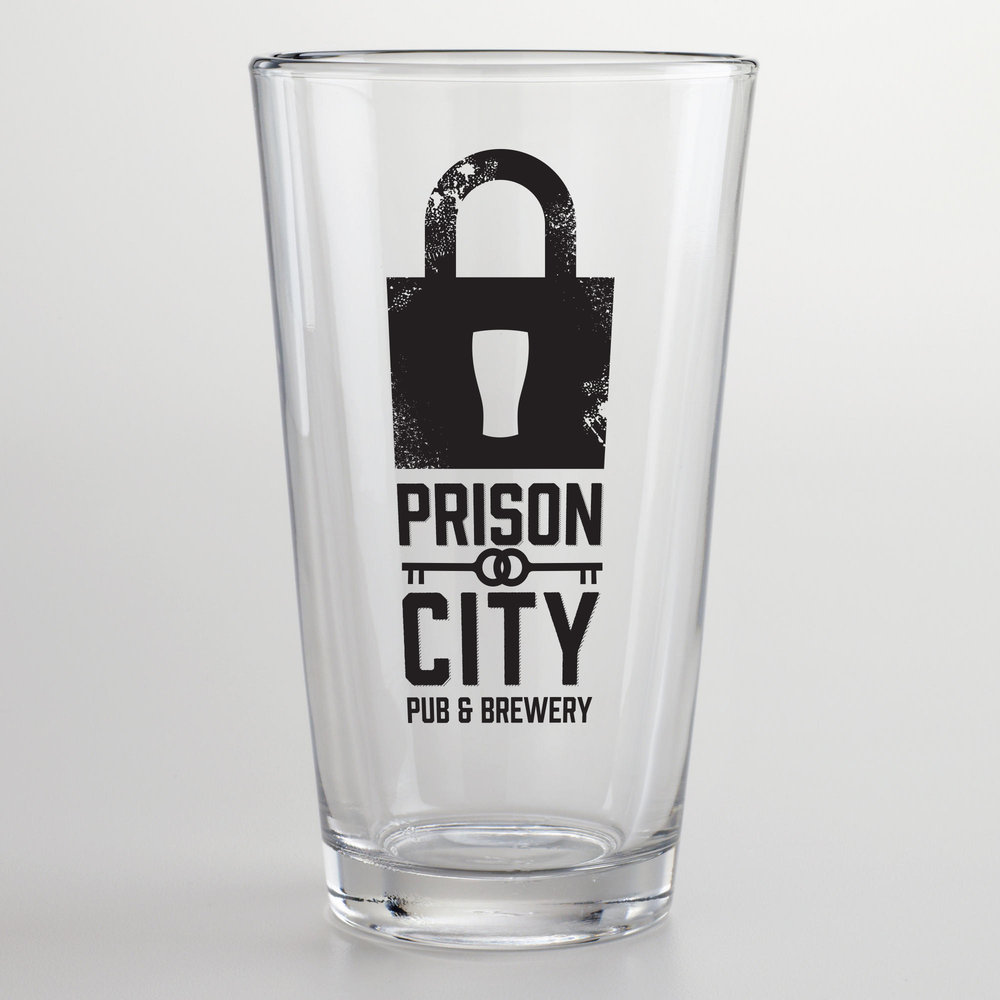 Prison City Pint Glass
