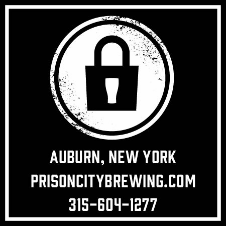 "Square Ad Layout stating ""Auburn NY Prisoncitybrewing.com 315-604-1277"""