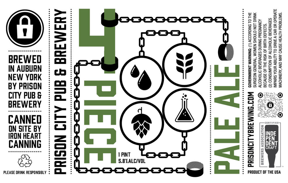 - PRISON CITY 4 PIECE PALE ALEAmerican Pale Ale · 5.8% · Single hop pale ale series, this one with the elusive Australian Galaxy hop. Expect tropical flavors that evolve as it warms. Very soft body & bitterness.4pk (16oz cans) - $17 - limit 2 x 4pk per person