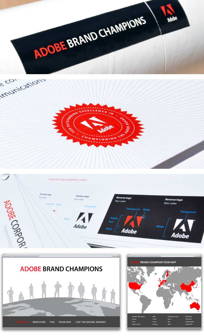 Adobe Brand Champion kit details & interactive app stills