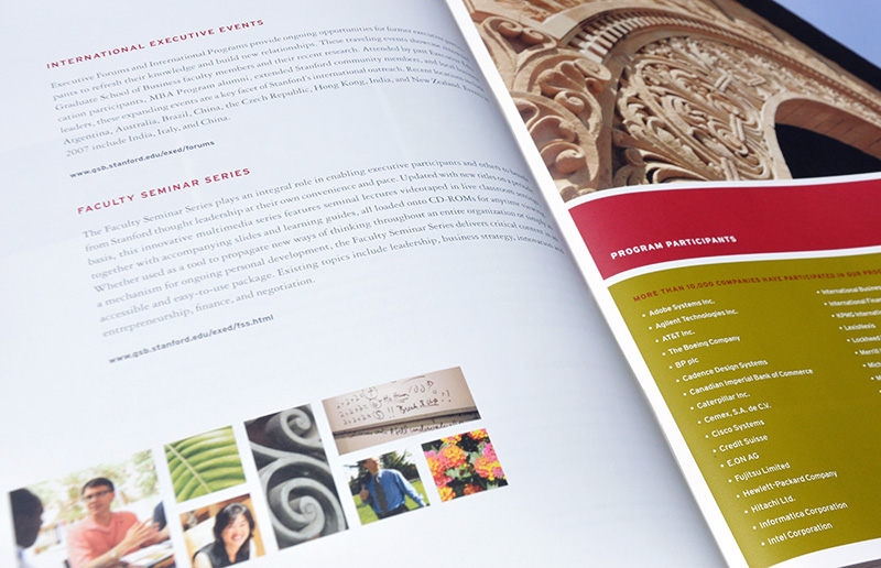 Course catalog spread detail