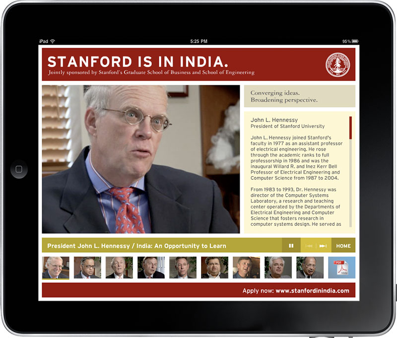 Stanford in India   interactive app video still