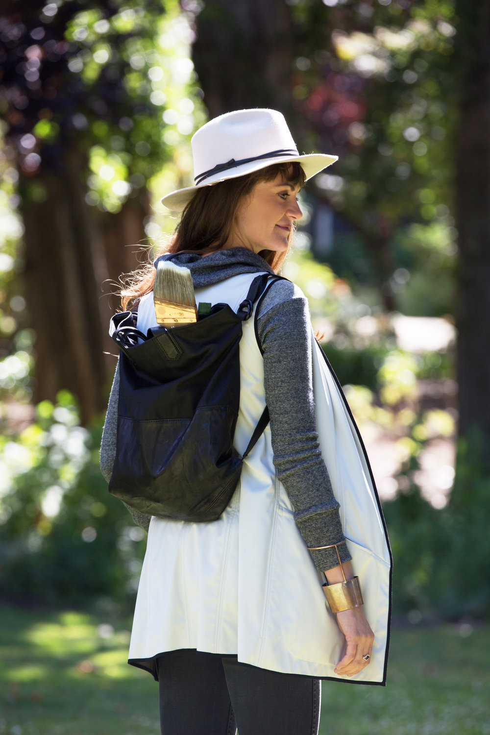 On Maja: Olivier Sweater | Katya Vest | Rogue Hat | Manhattan Tote Bag