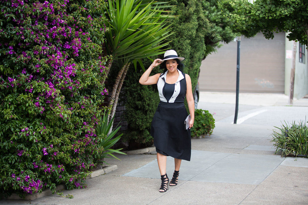 On Elisa - Alex Hat | Tara Clutch | Niya Tunic | Convetible Skirt