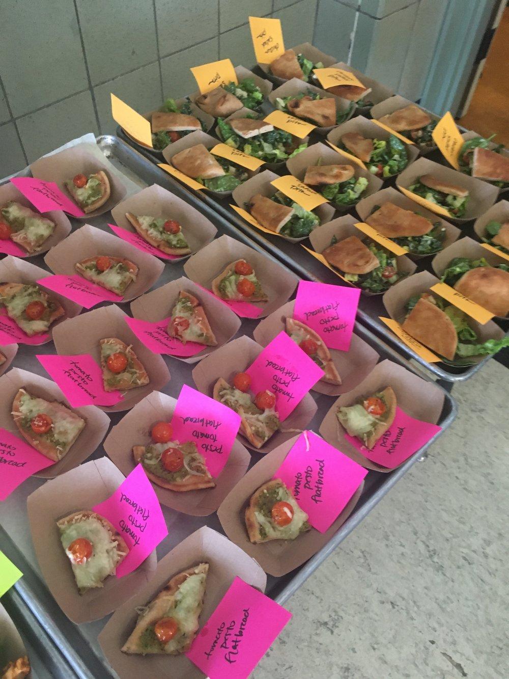 Salad and Flat Bread Taste Test at Marina.JPG