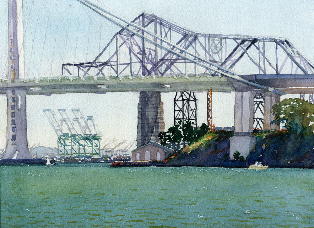 Bay Bridge From Clipper Cove