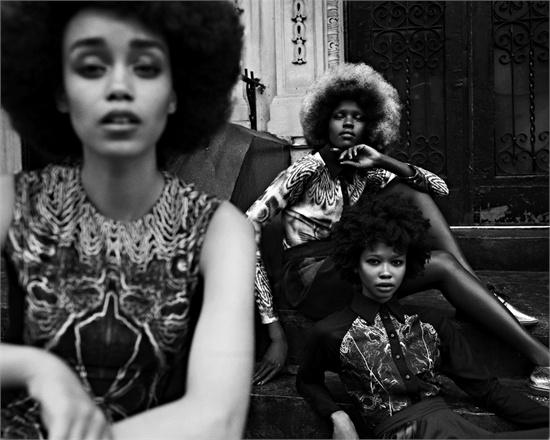 Vogue Italia - Afro Look