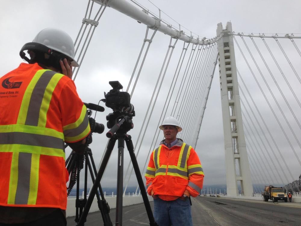 Filming on the Bay Bridge prior to its opening in 2013. That was fun.