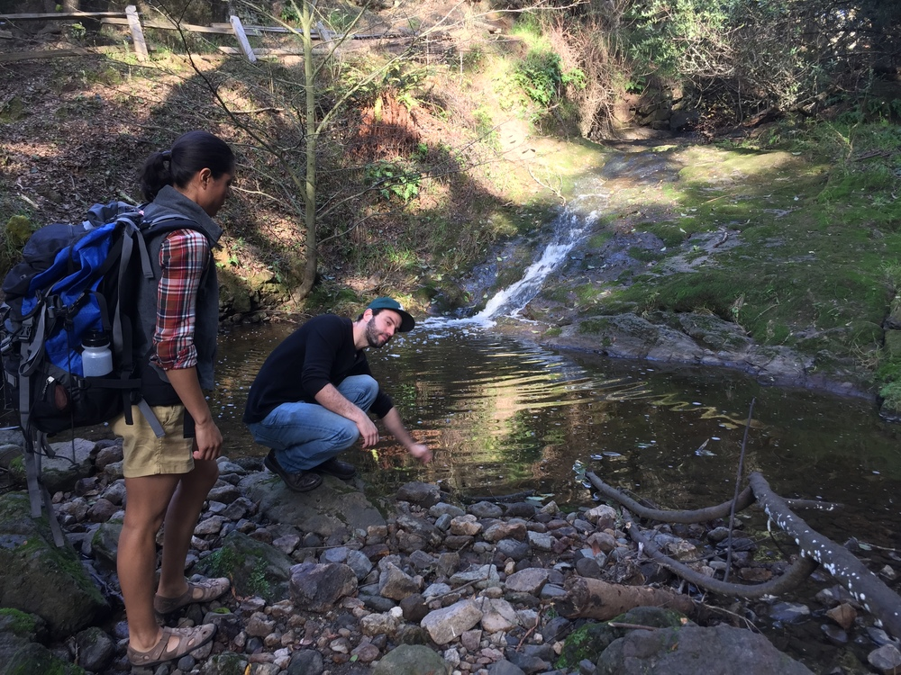 BTS, at our very secret creek location ;)