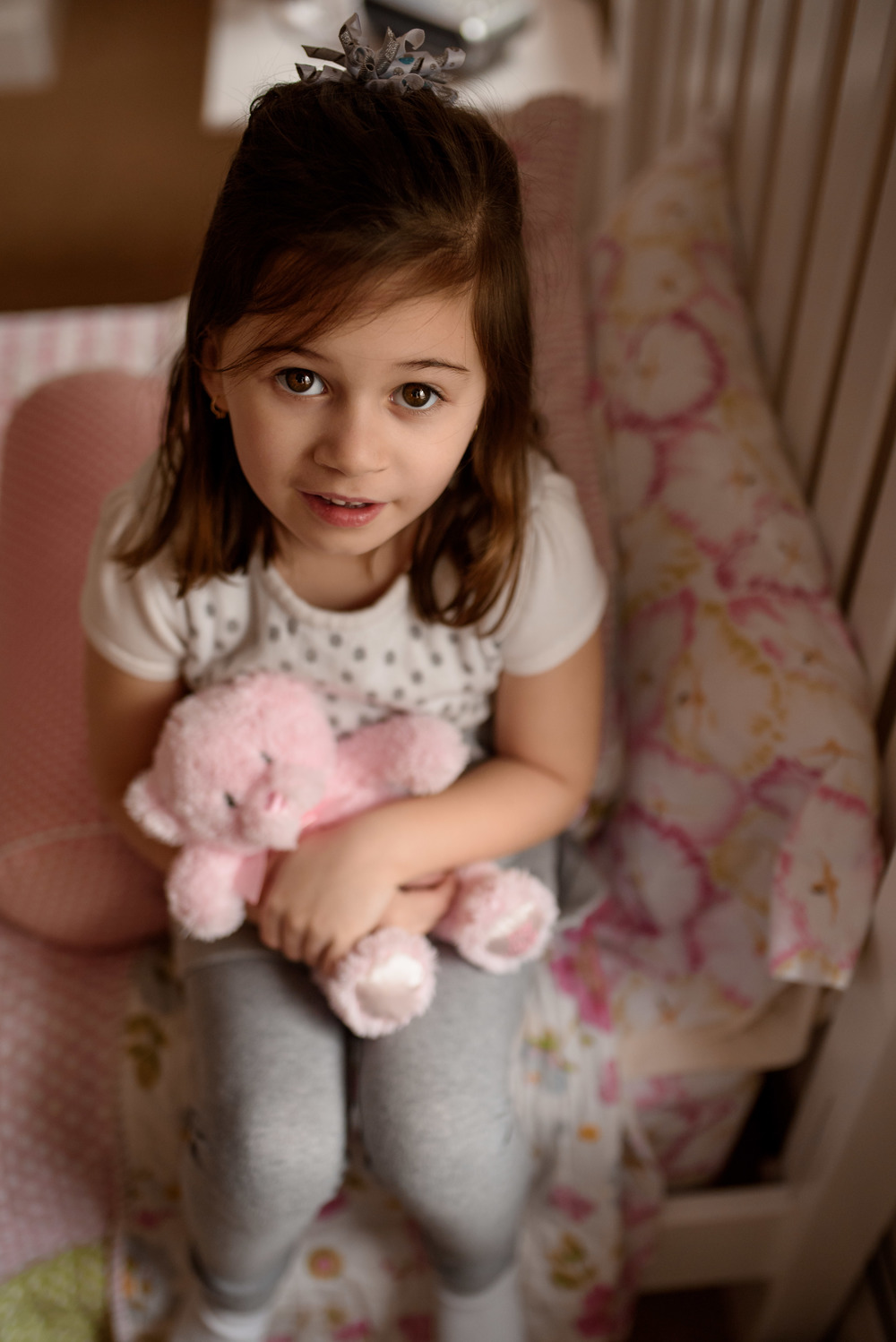 Daughter With Teddy Bear