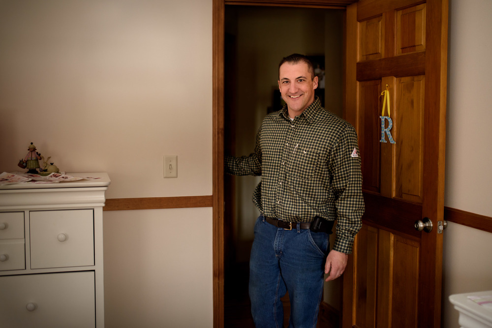 Dad In Doorway Of Daughter's Bedroom