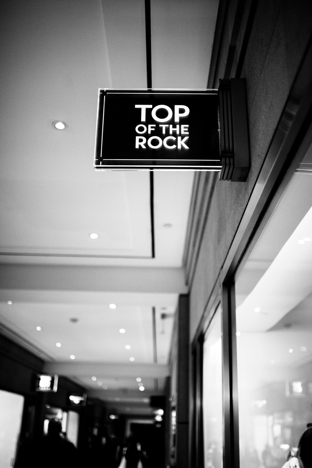 Top Of The Rock Sign
