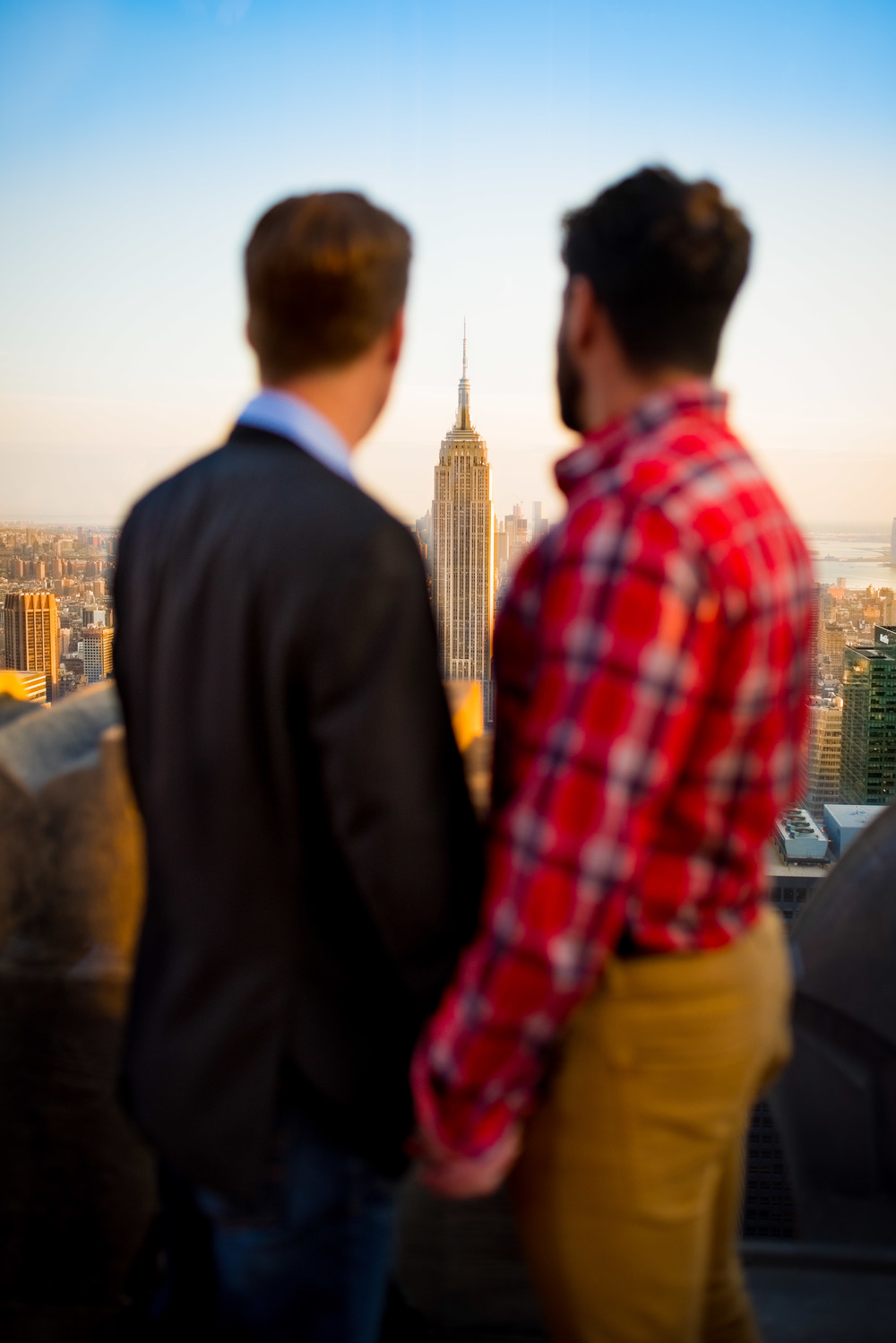 Couple Looking At Empire State Building