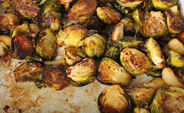SK 047 Maple Glazed Brussels Sprouts with Caraway