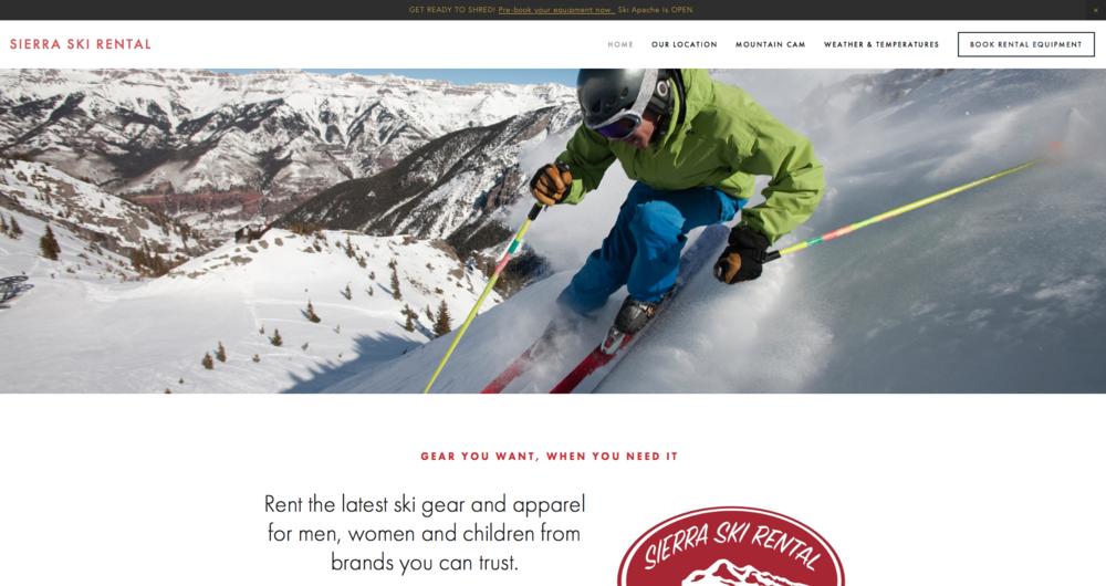 SierraSkiRental.com (eCommerce)