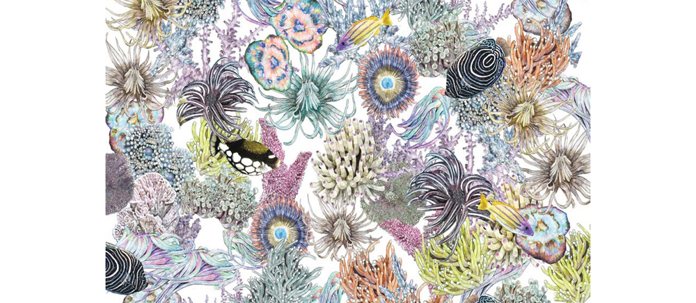 Section of ANENOME YARDAGE | Digital Print
