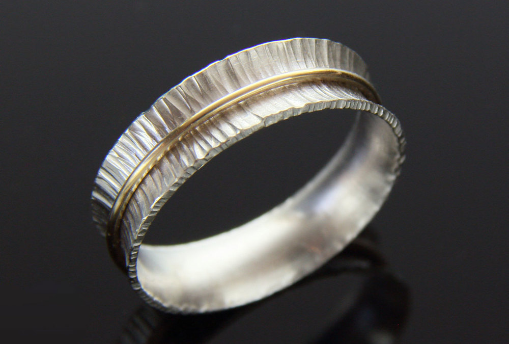Narrow Spinner Ring with 14K Band