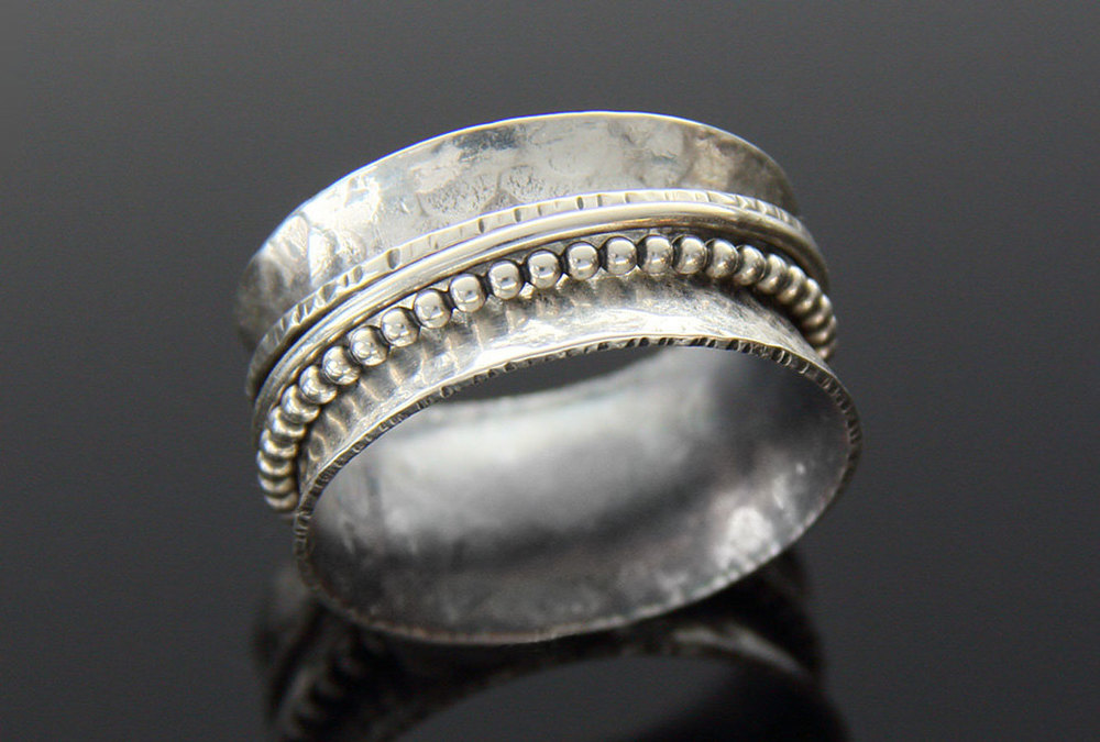 Spinner Ring, Hammered