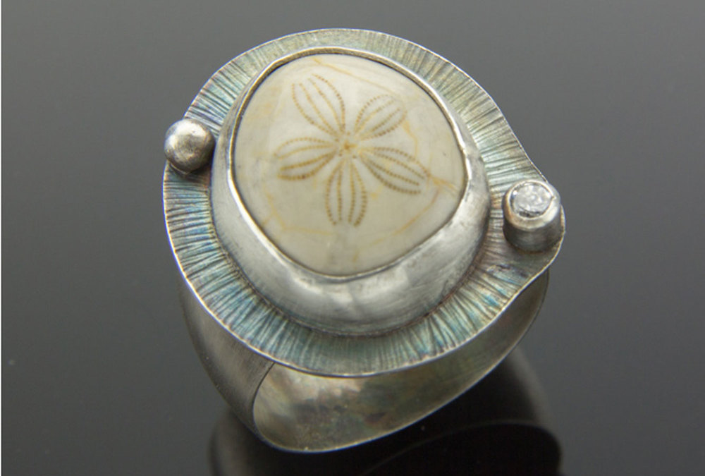 Fossilized Sand Dollar Ring